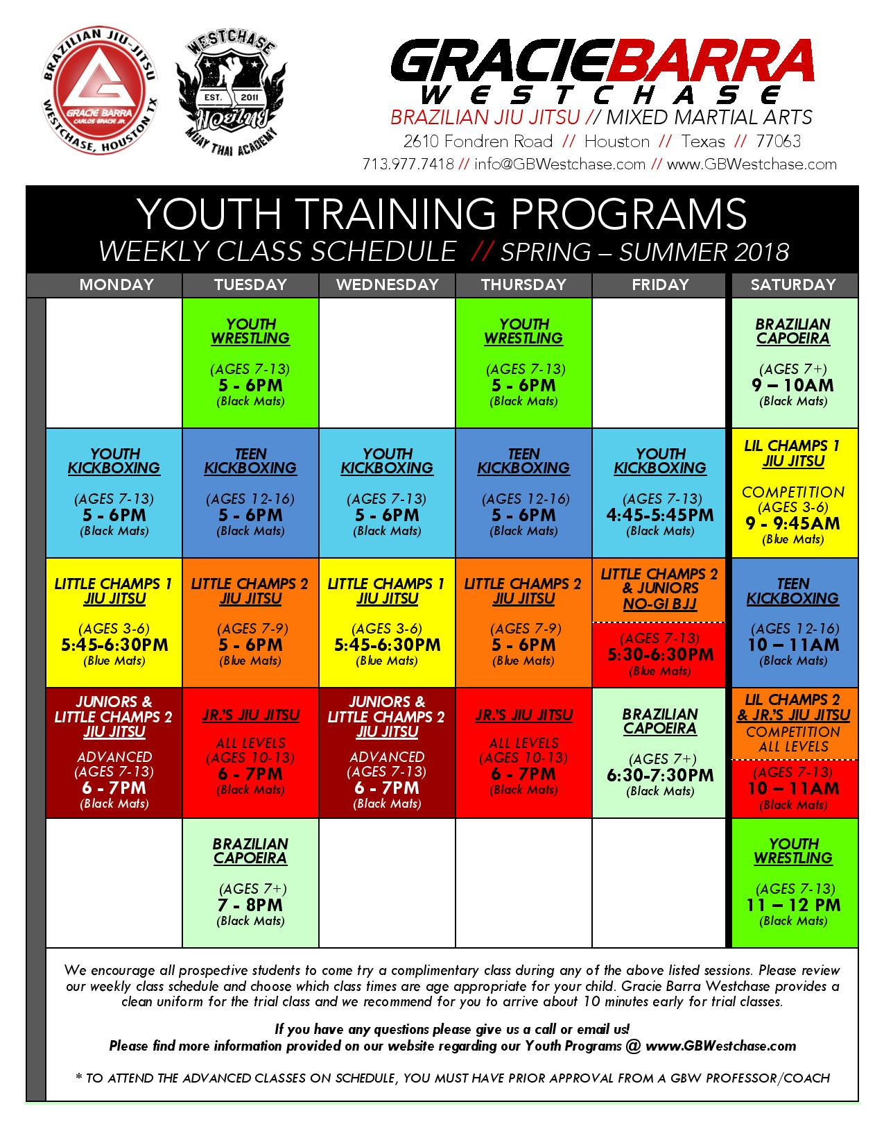 Training Schedule in houston
